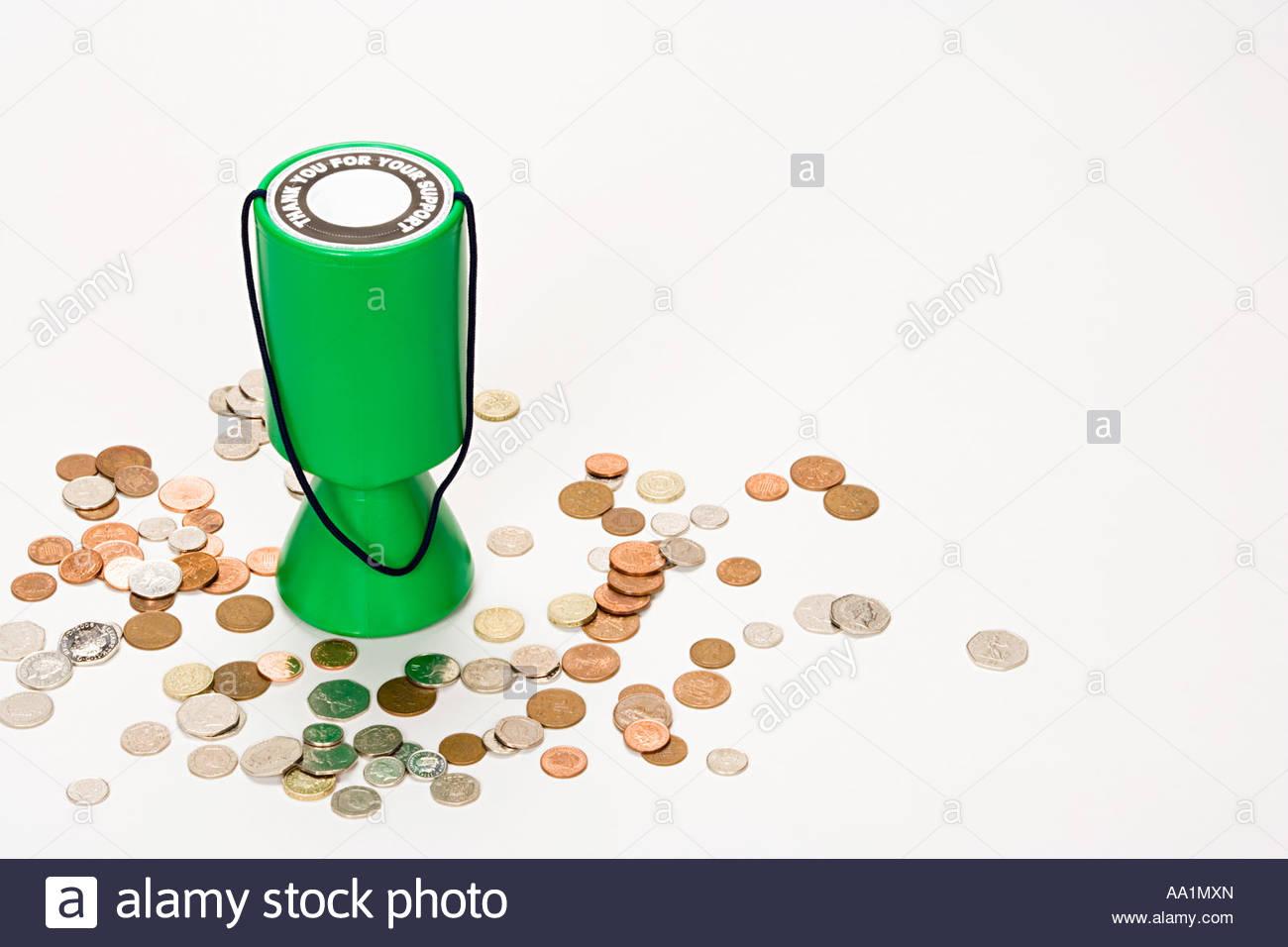 Donation box - Stock Image