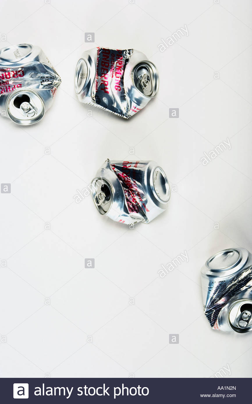 Crushed cans - Stock Image