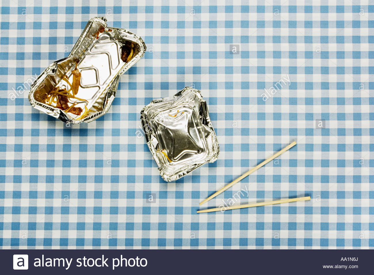 Fast food container and chopstick - Stock Image