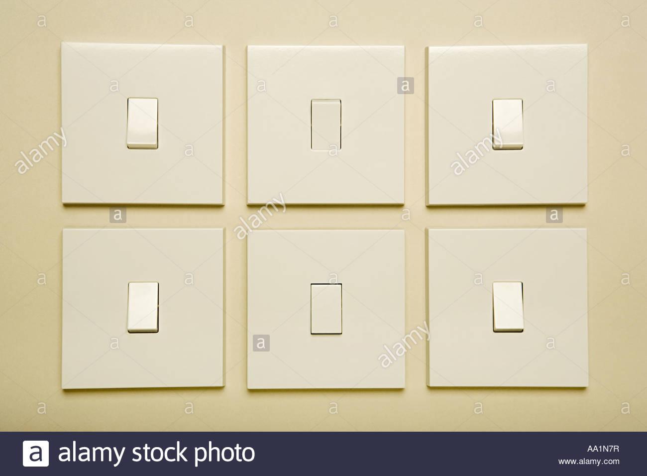 Light switches - Stock Image