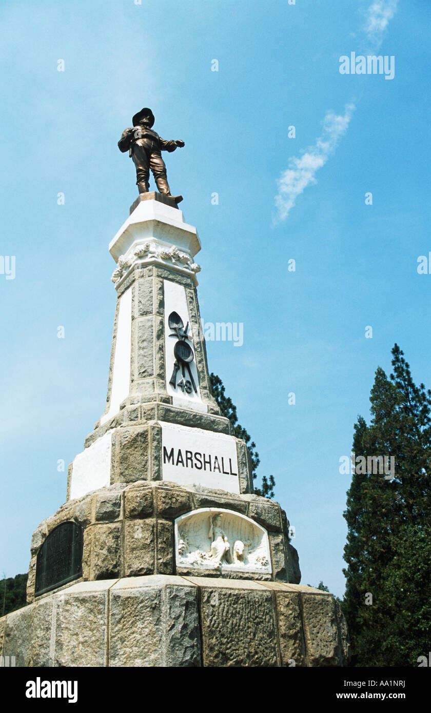 Statue of james marshall coloma - Stock Image