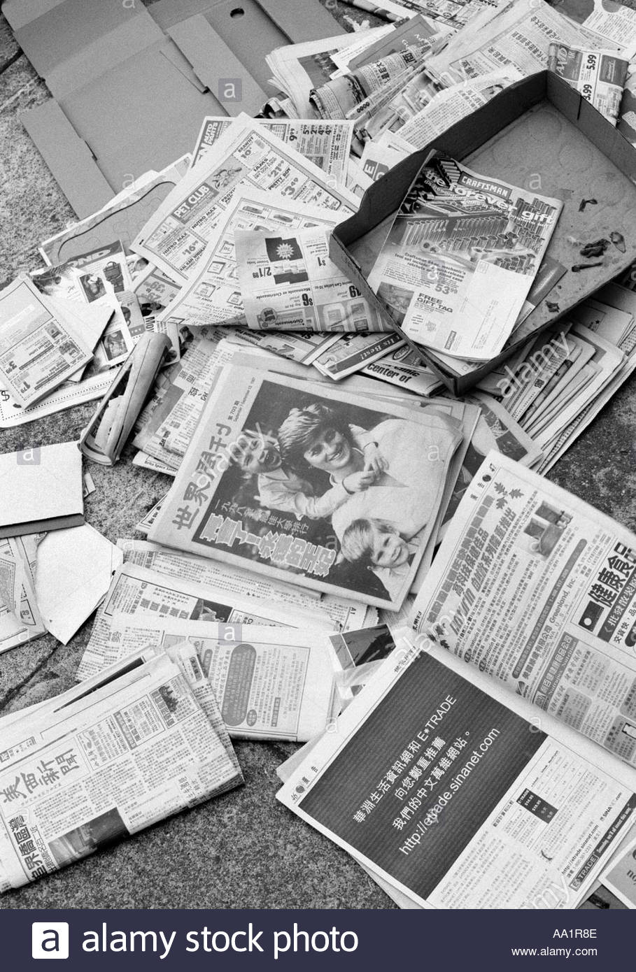 Scattered Newspapers