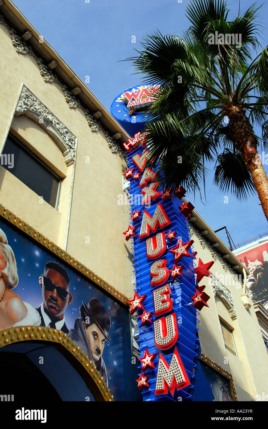 Wax Works Museum on Hollywood Boulevard, Hollywood, Los Angeles, California USA - Stock Image