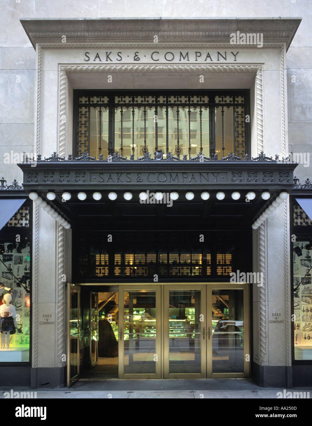 Saks 5th Avenue, NYC, New York City, NY, USA - Stock Image