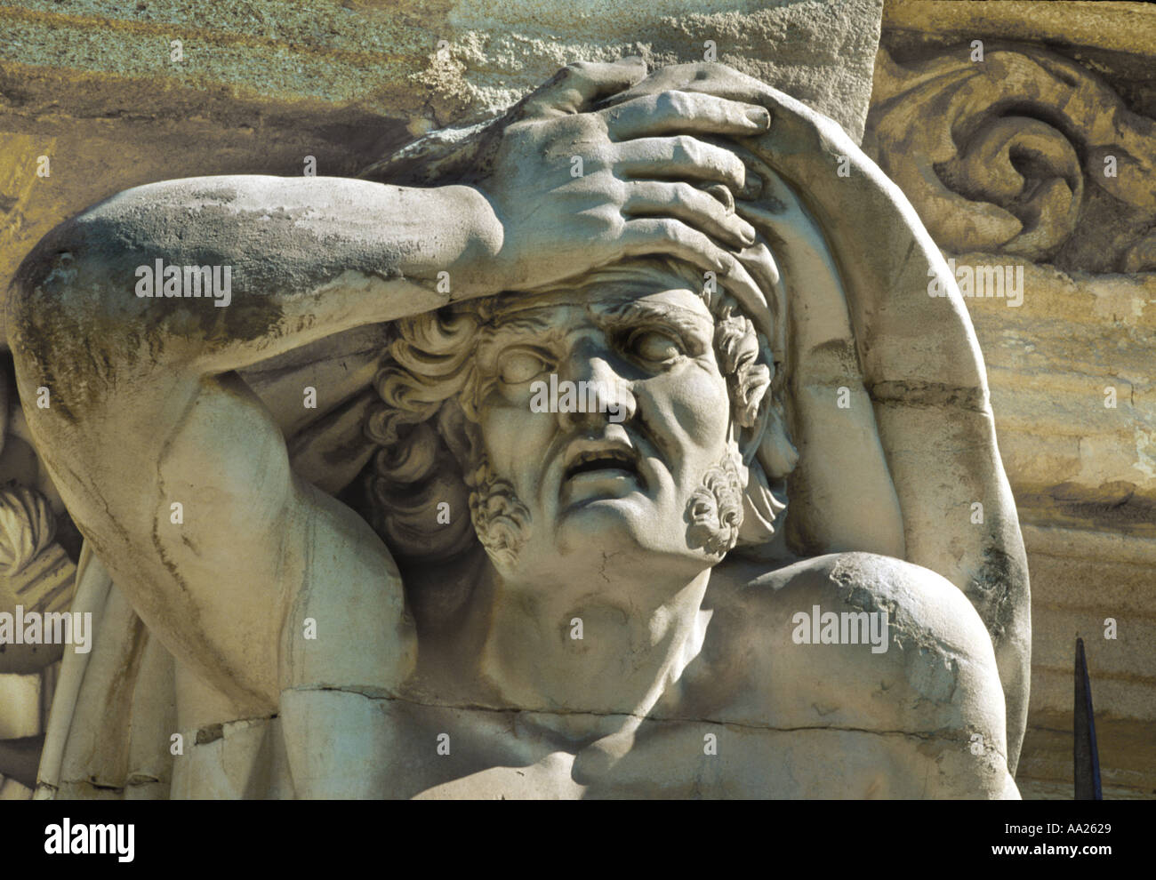 Atlante of the Pavillon Vendome in Aix en Provence France Stock Photo