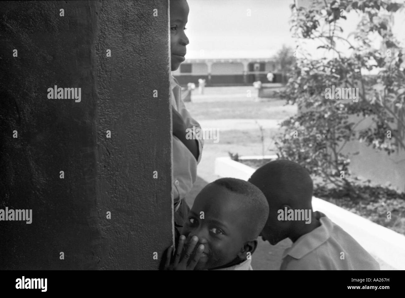 School Children at a community school near Accra, Ghana - Stock Image