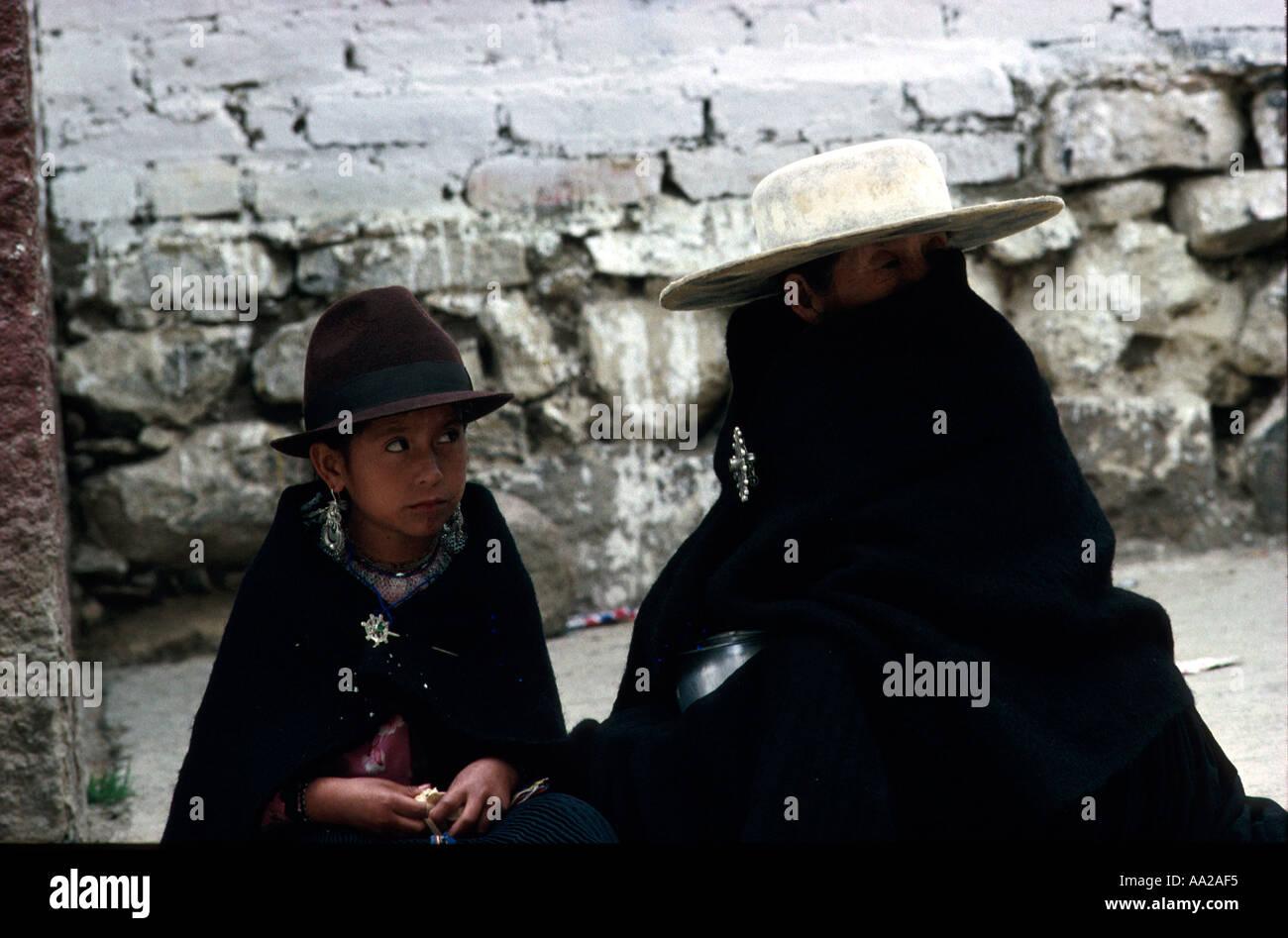 ECUADOR Salasaca Indians Loja Province Stock Photo