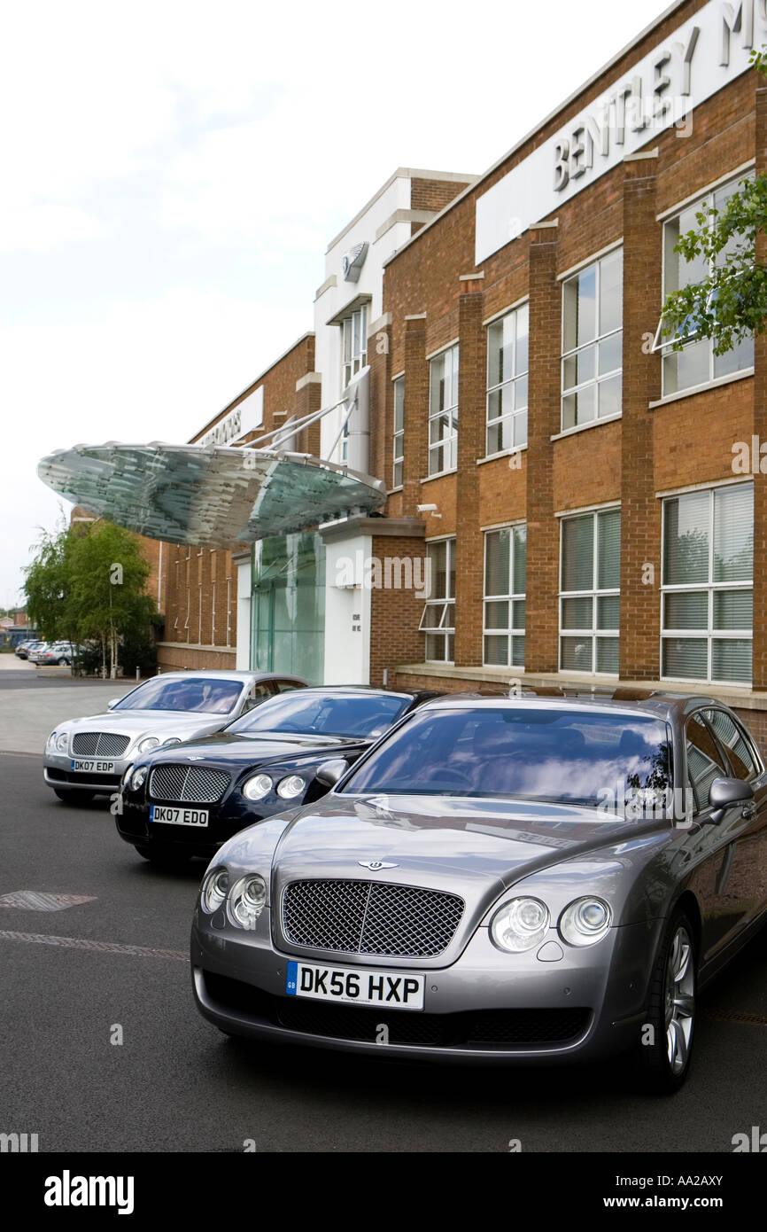 Bentley Cars at the Factory in Crewe - Stock Image