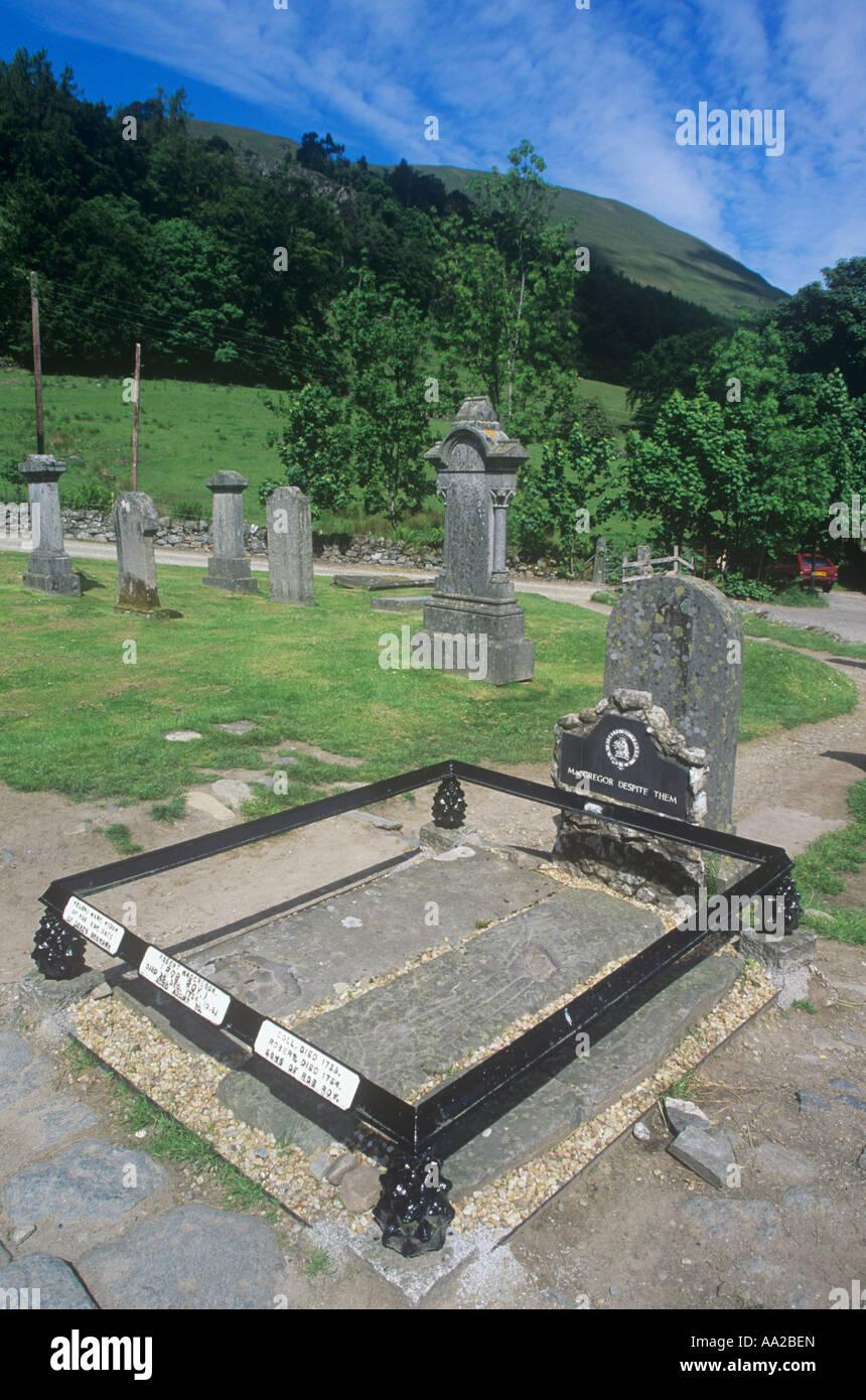 Rob Roy s Grave, Balquhidder, Stirling, Scotland Stock Photo