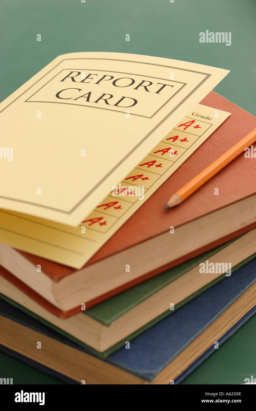 school report card - Stock Image