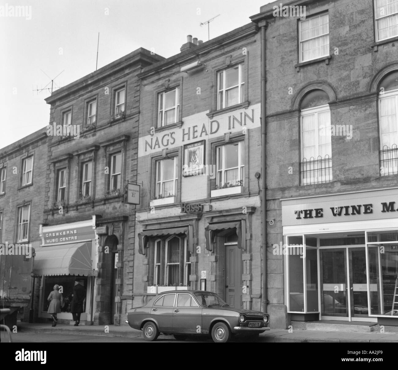 Nags Head Inn Crewkerne Somerset 1973 in 6x6 number 0038 - Stock Image