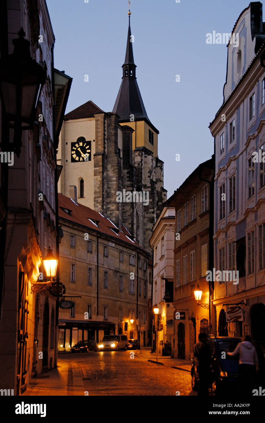 Early Morning near Stare Mesto, Prague, Czech Republic - Stock Image