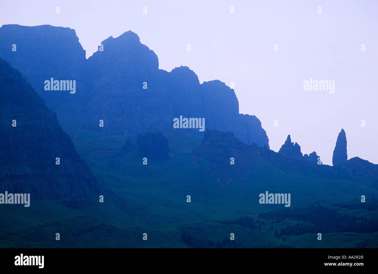 Isle of Skye, Storr Hills, Old Man of Storr, Highland Region, Scotland, UK, Scottish landscape scenery, mountain, - Stock Image