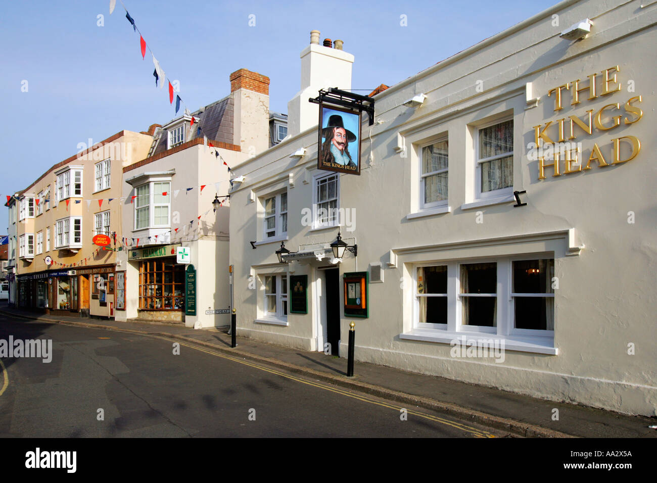 Kings Head Pub Yarmouth Isle of Wight England UK - Stock Image