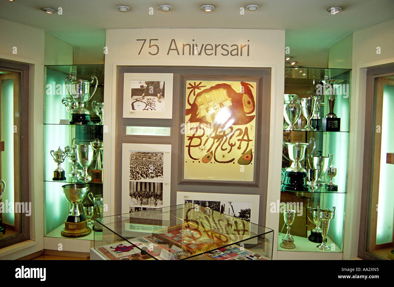 Trophy Room In Museum The Nou Camp Stadium Barcelona Football Club Spain