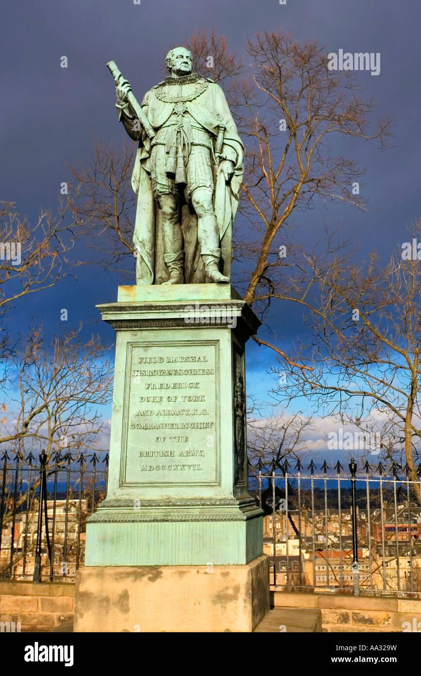 Field Marshall His Royal Highness The Duke Of York Memorial Statue - Stock Image
