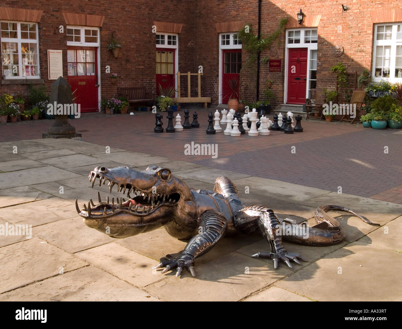 A Metal Alligator At The Ferrers Centre For Arts Crafts