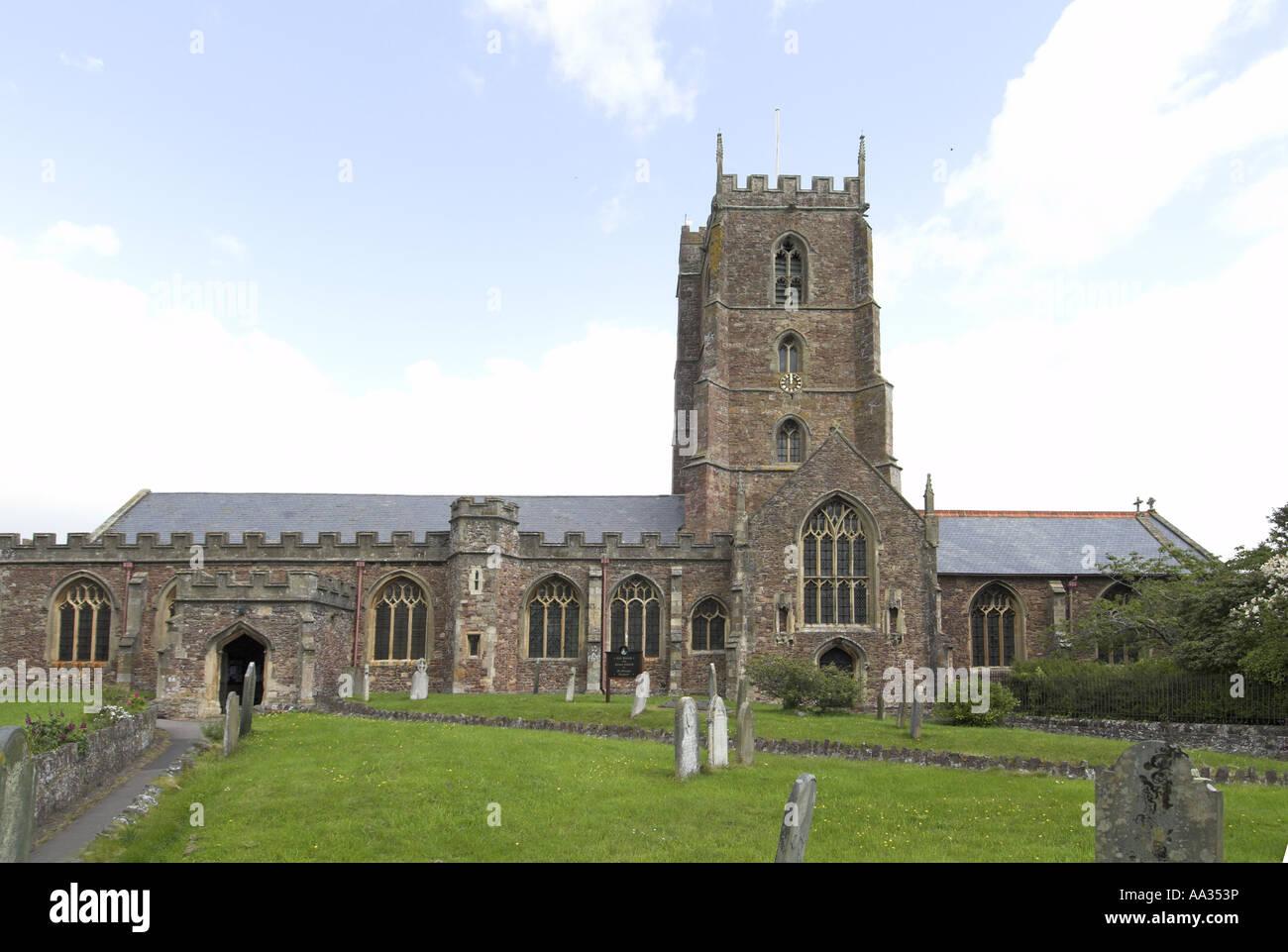 Dunster Church Exmoor Somerset UK May Stock Photo