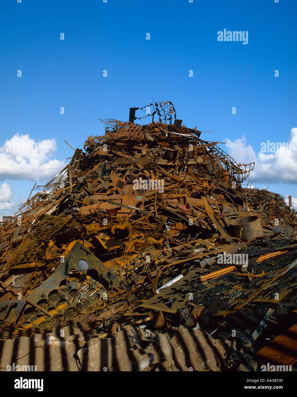 Scrap Metal England - Stock Image