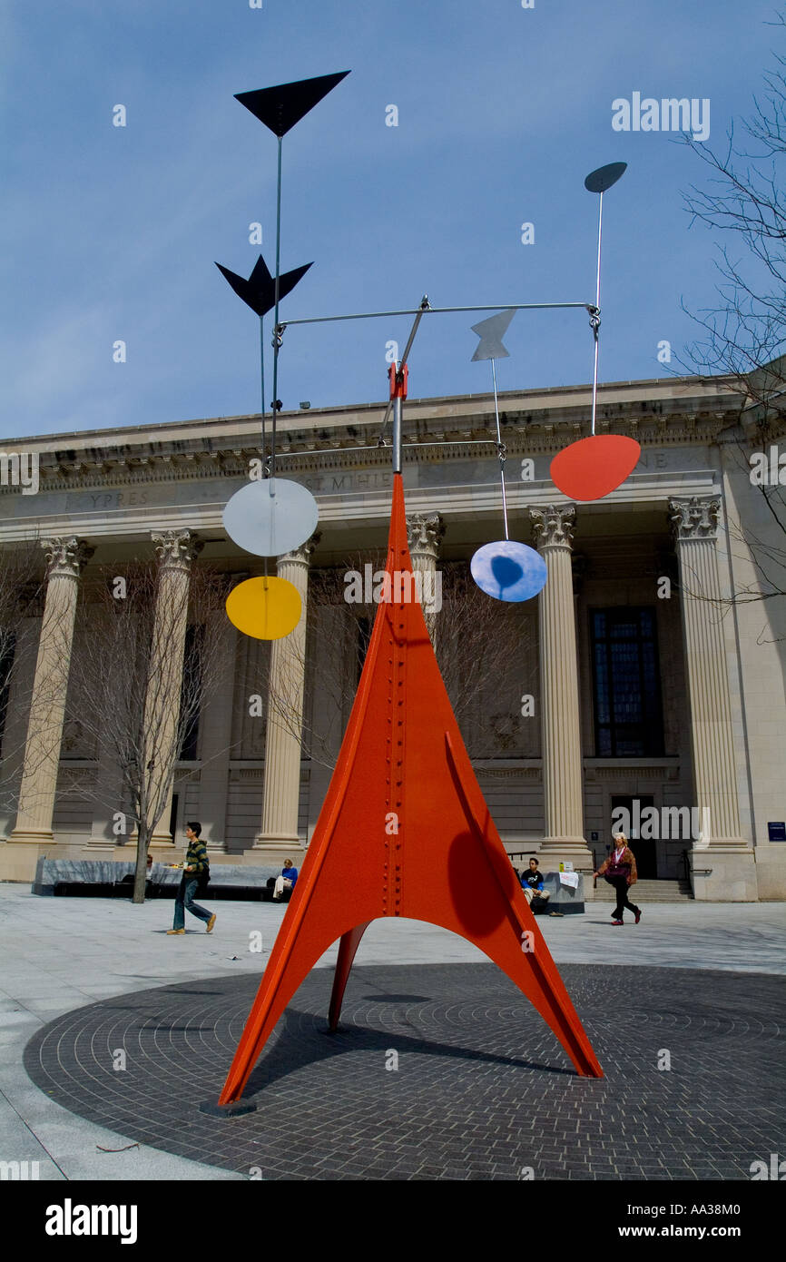 Alexander Calder outdoor sculpture at Yale University, New Haven, CT USA - Stock Image