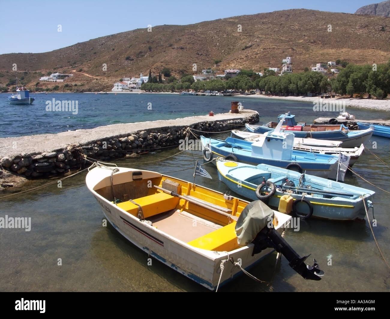 Emborios beach, Kalymnos, Dodecanese Greece. - Stock Image
