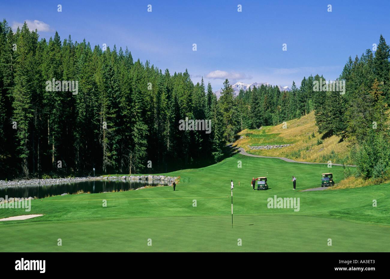 Silvertip Golf Course Canmore Alberta Canada - Stock Image