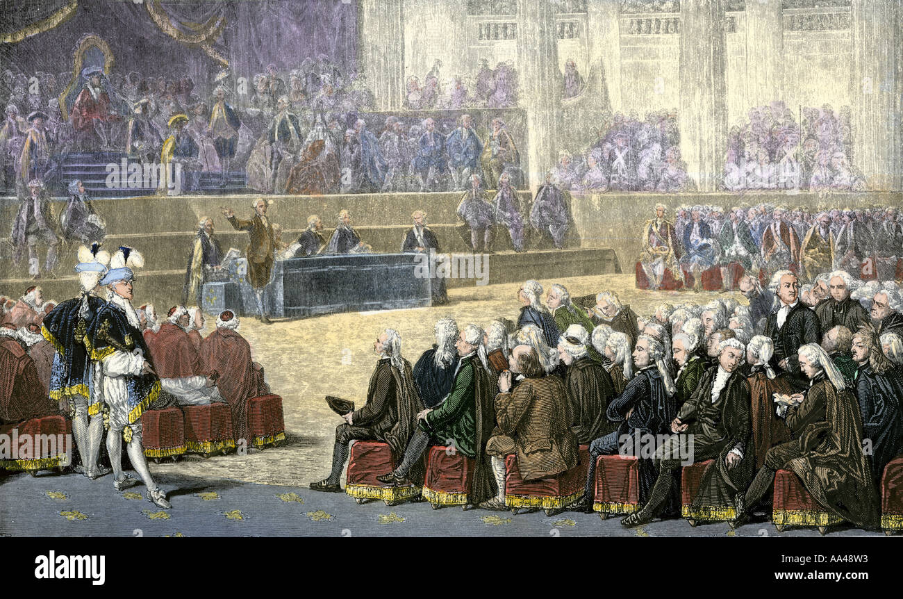 Estates General France Stock Photos. Opening Of The Estates General In Versailles Palace At Outset French Revolution 1789. Wiring. 1789 Estates General Diagram At Scoala.co