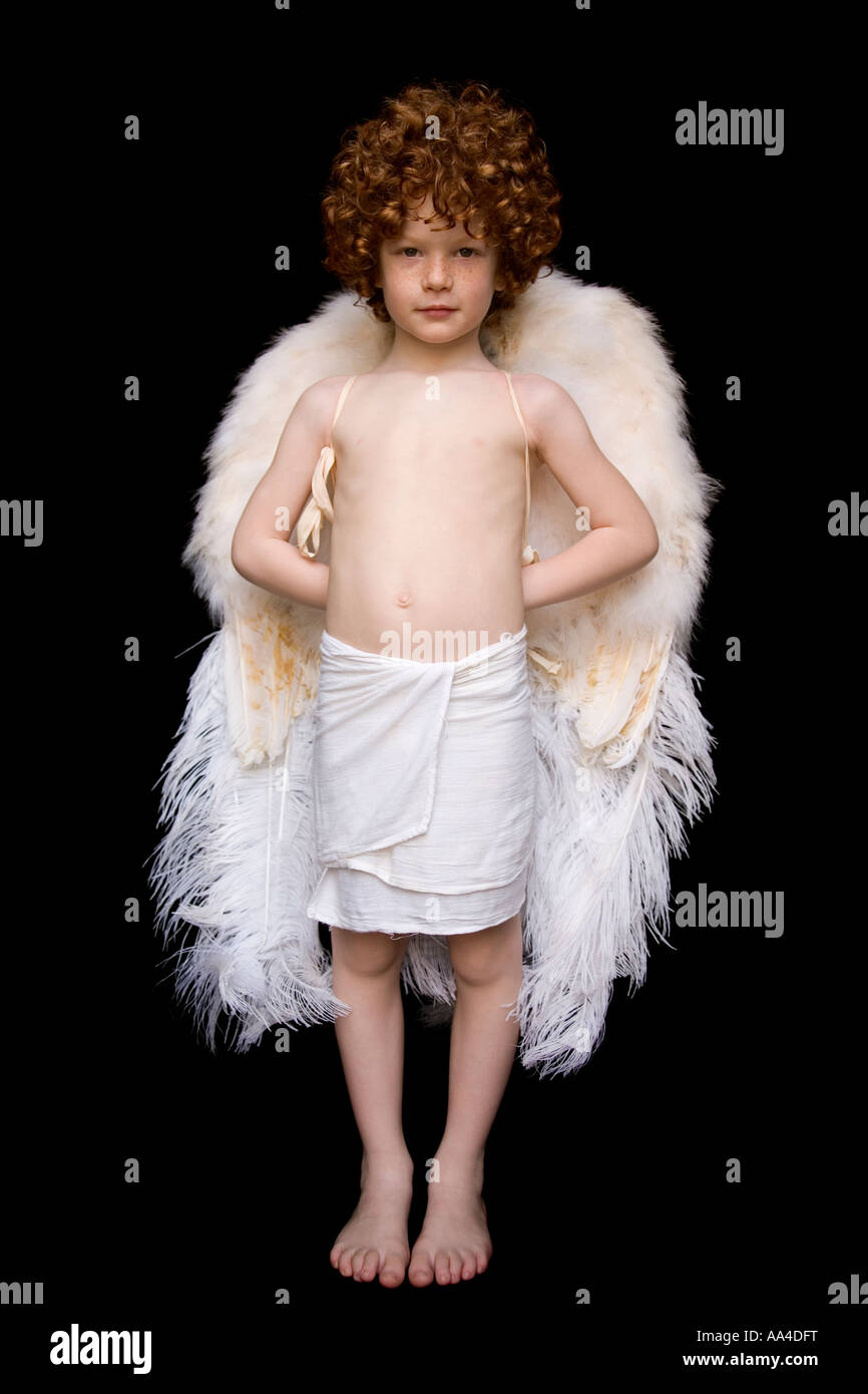 Child with Angel s wings - Stock Image