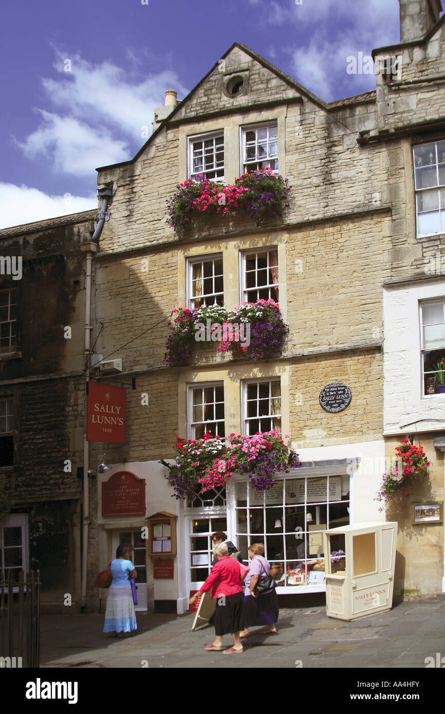 Sally Lunns tea rooms Bath NE Somerset England UK The oldest house in Bath 1482 Stock Photo