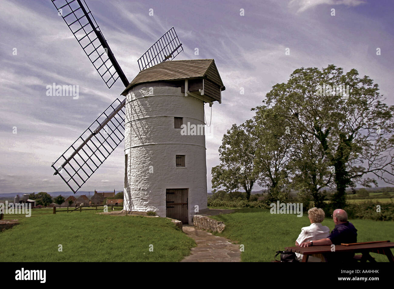 Ashton Windmill Chapel Allerton nr Axbridge Somerset England UK - Stock Image