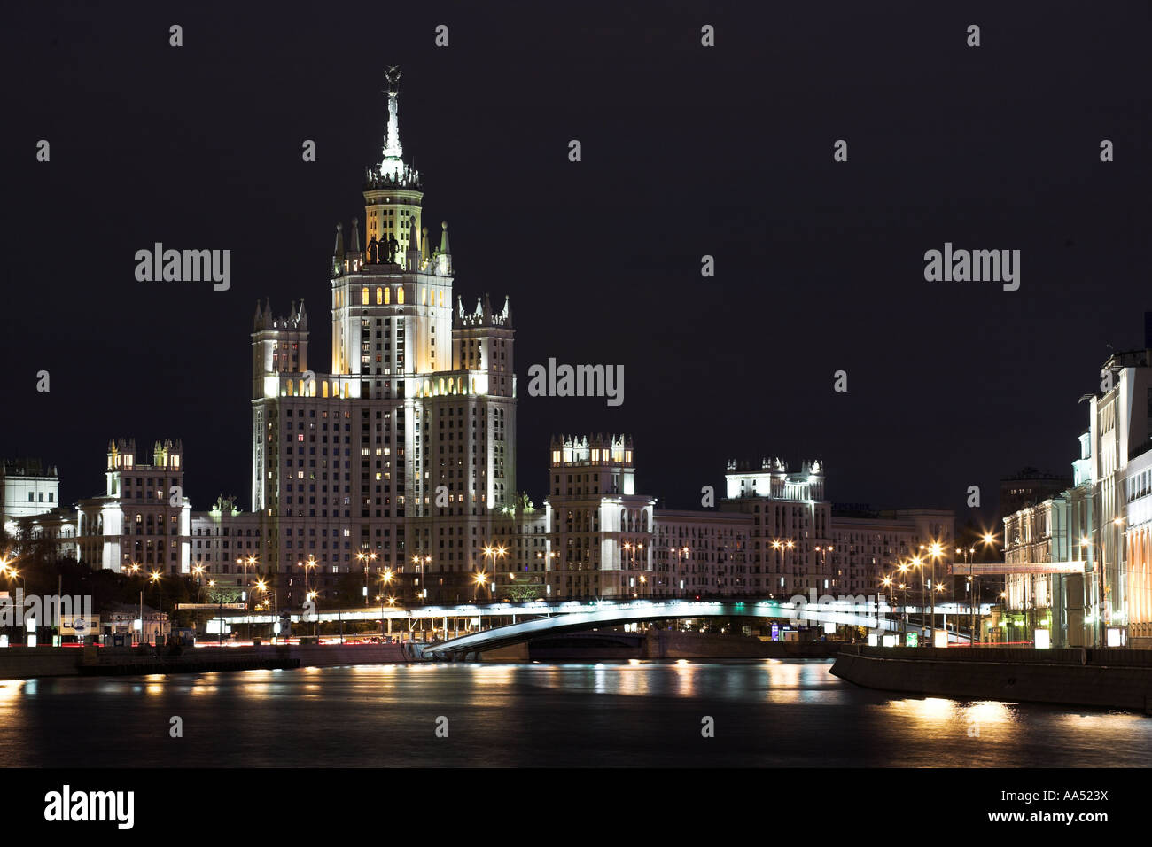 Stalinist Skyscraper, Moscow. - Stock Image