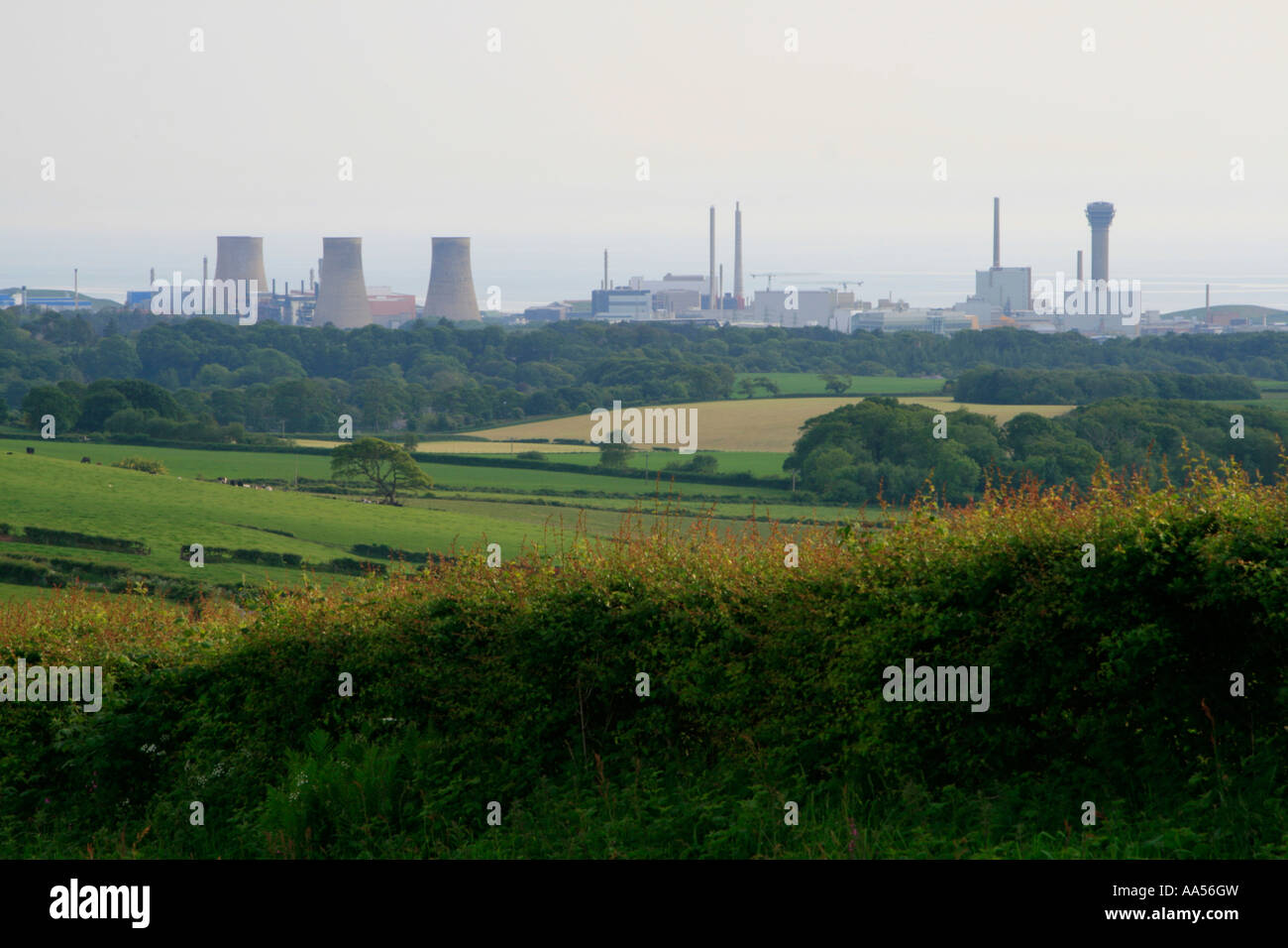 sellafield nuclear site seascale cumbria lake district england uk gb - Stock Image