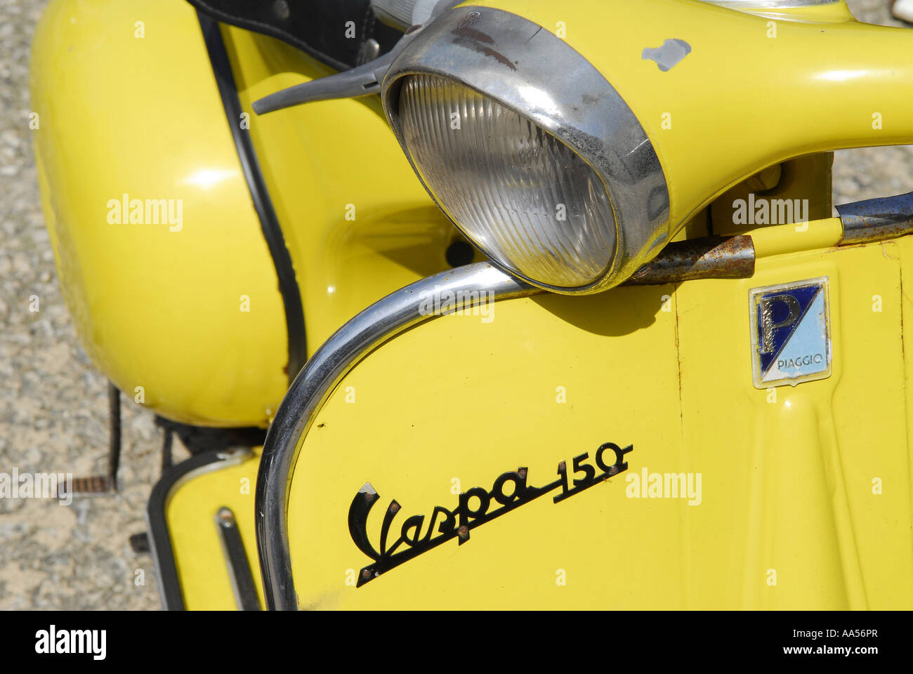 Classic Vespa 150 Motor Scooter Stock Photo Alamy