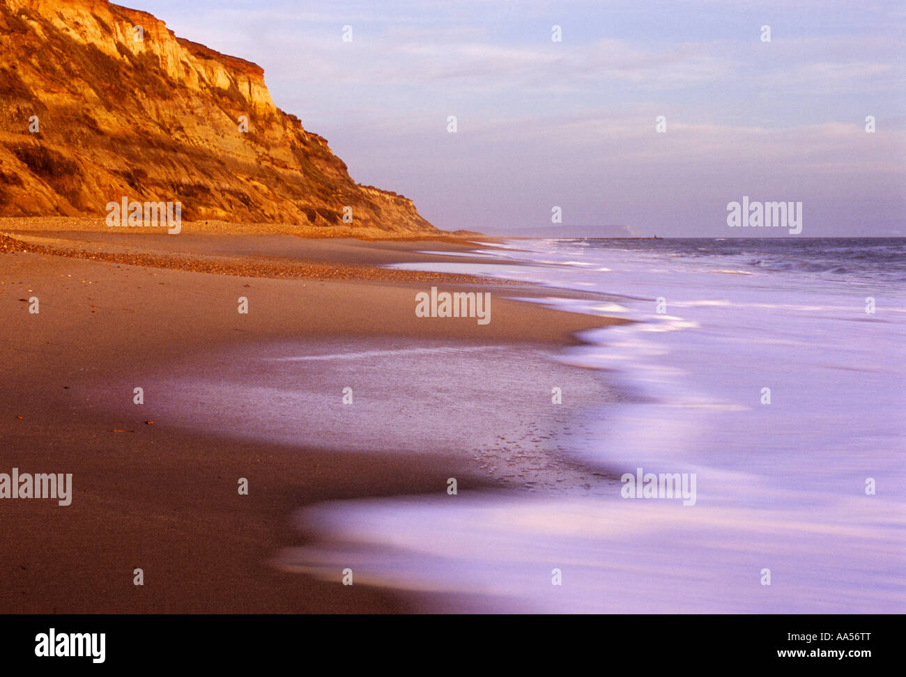 Late afternoon sun at Hengistbury Head near Bournemouth Dorset - Stock Image