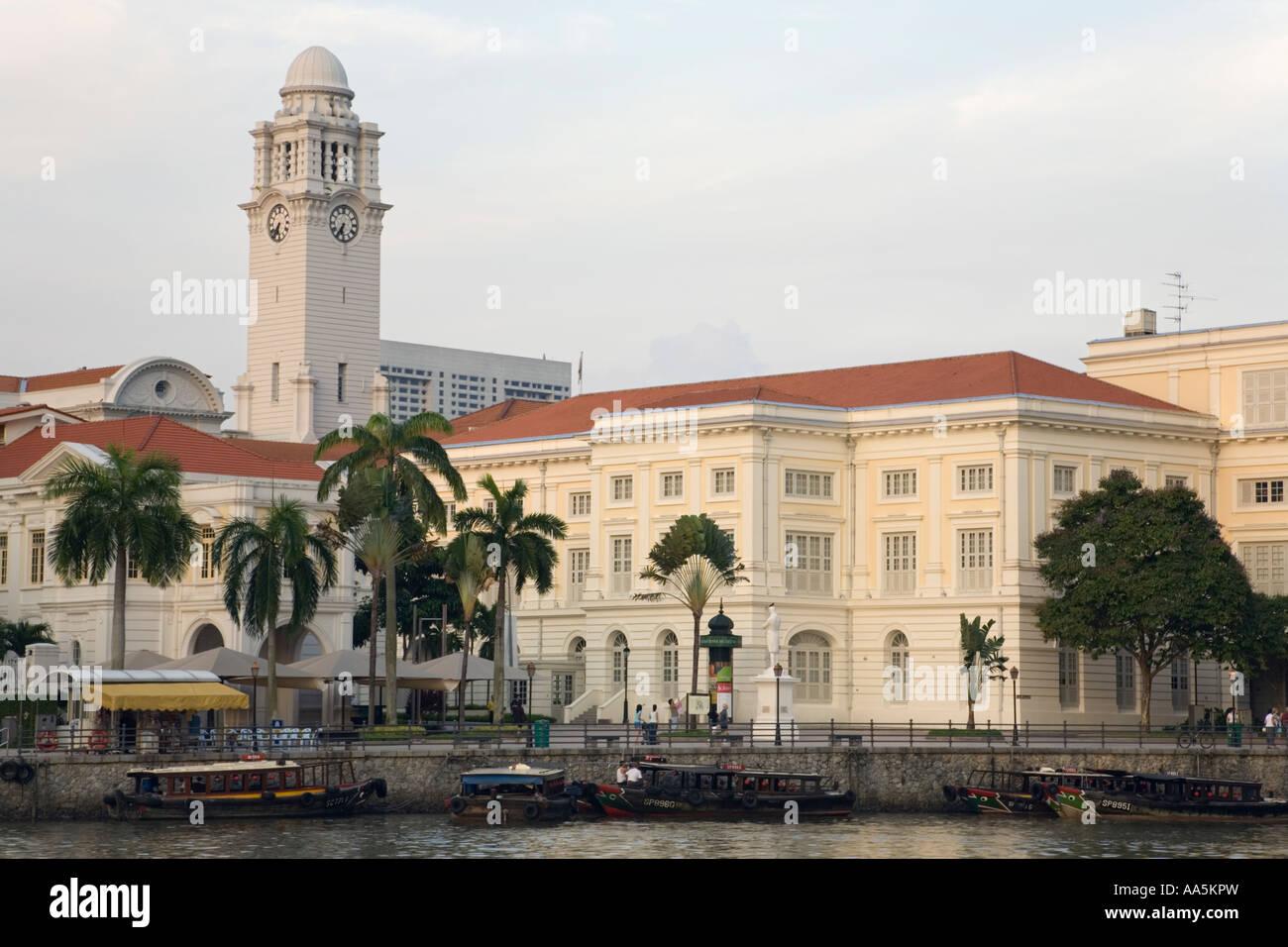 Singapore, Empress Place housing the  Asian Civilisations Museum - Stock Image