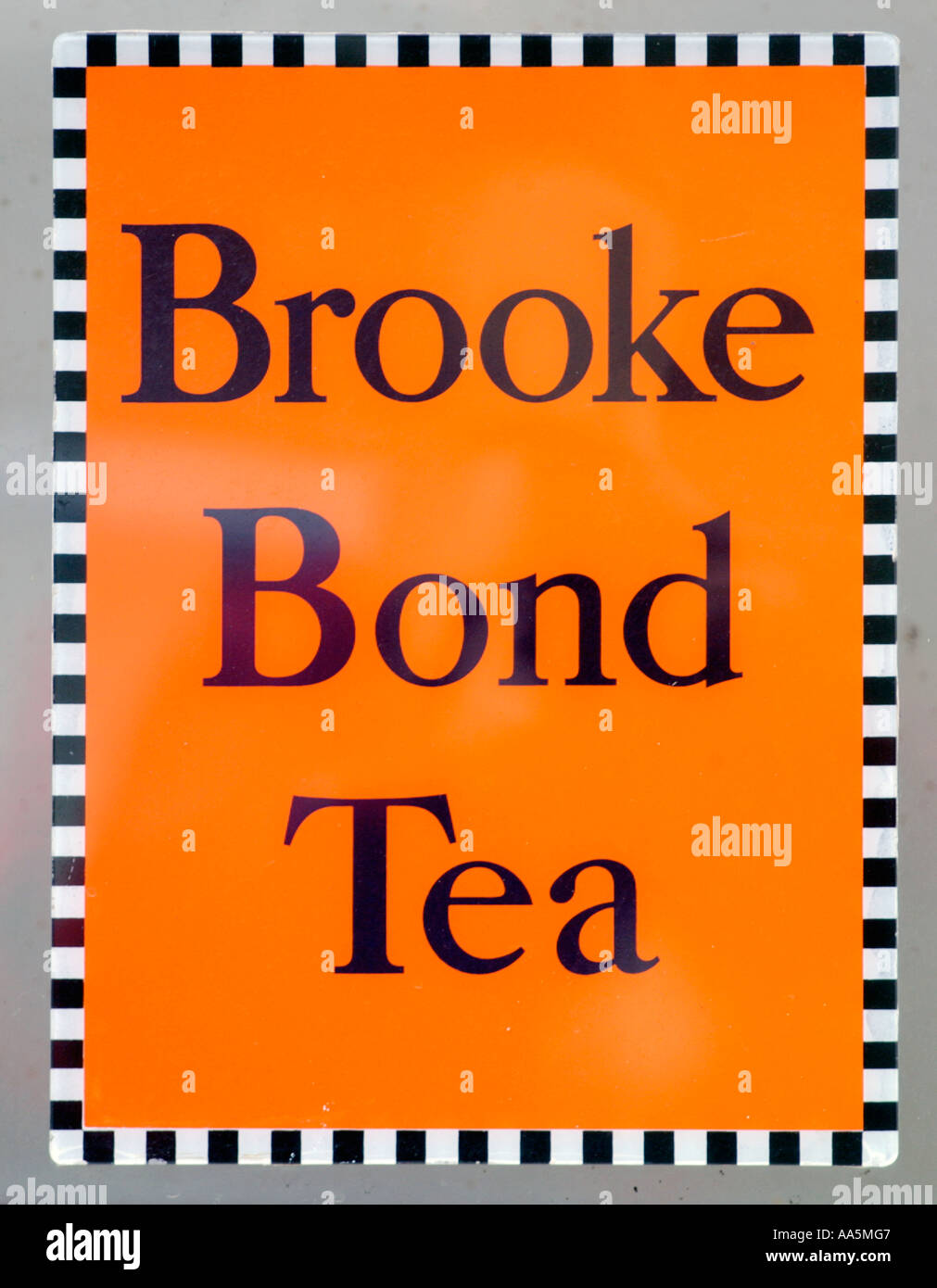 Old original BROOKE BOND TEA enamel sign UK Stock Photo