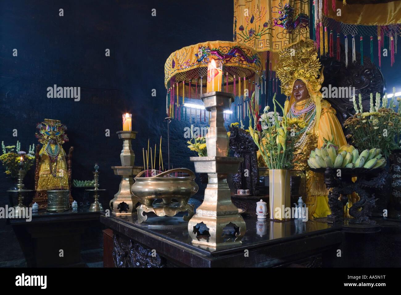Nha Trang, Vietnam  Po Nagar Cham Towers  Shrine with statue