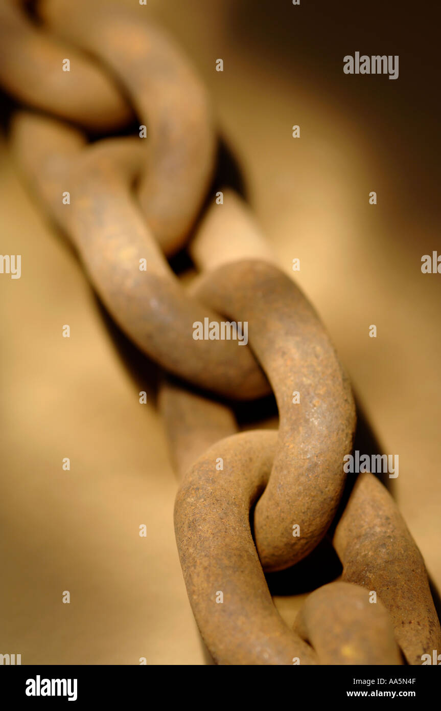 Heavy duty chain links - Stock Image