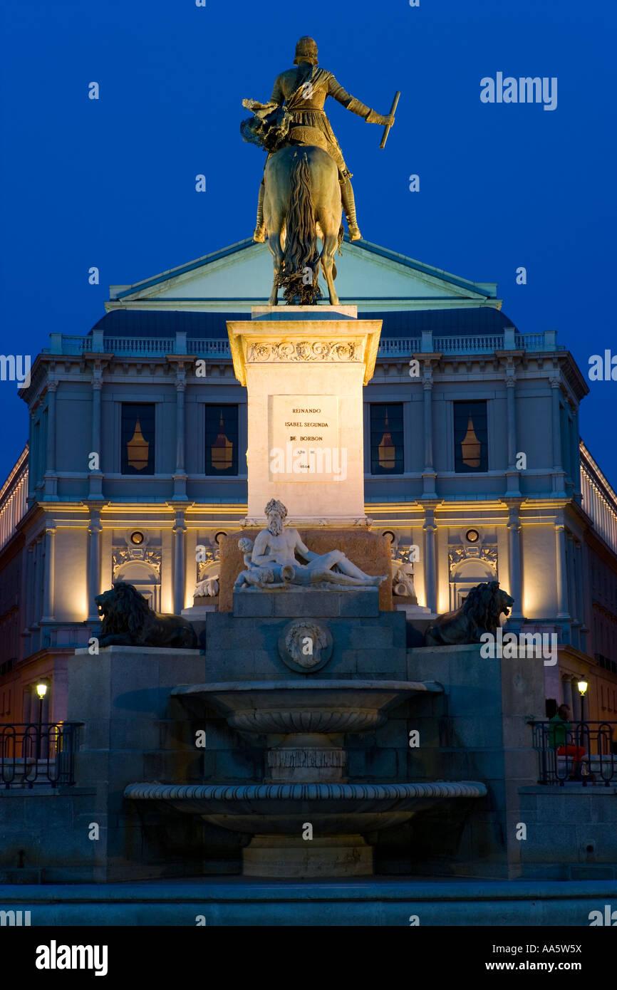 Statue of Philip IV, Plaza de Oriente, Madrid Spain - Stock Image