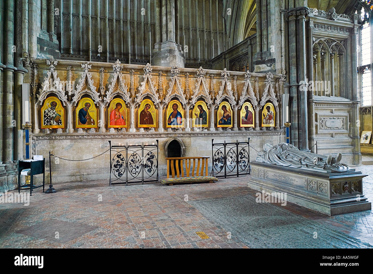Sergei Fyodorov's Entire Iconostasis at Winchester Cathedral - Stock Image