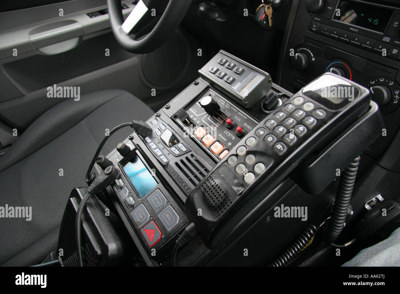 police car radio and emergency equipment control panel stock photo 12526145 alamy. Black Bedroom Furniture Sets. Home Design Ideas