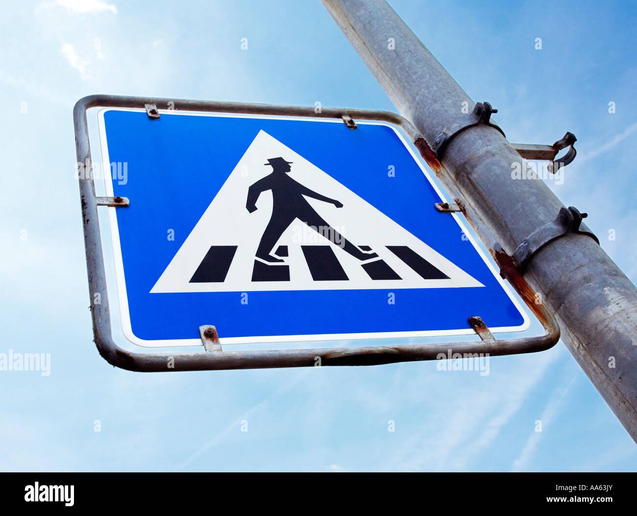 German pedestrian crossing sign, Germany, Europe - Stock Image