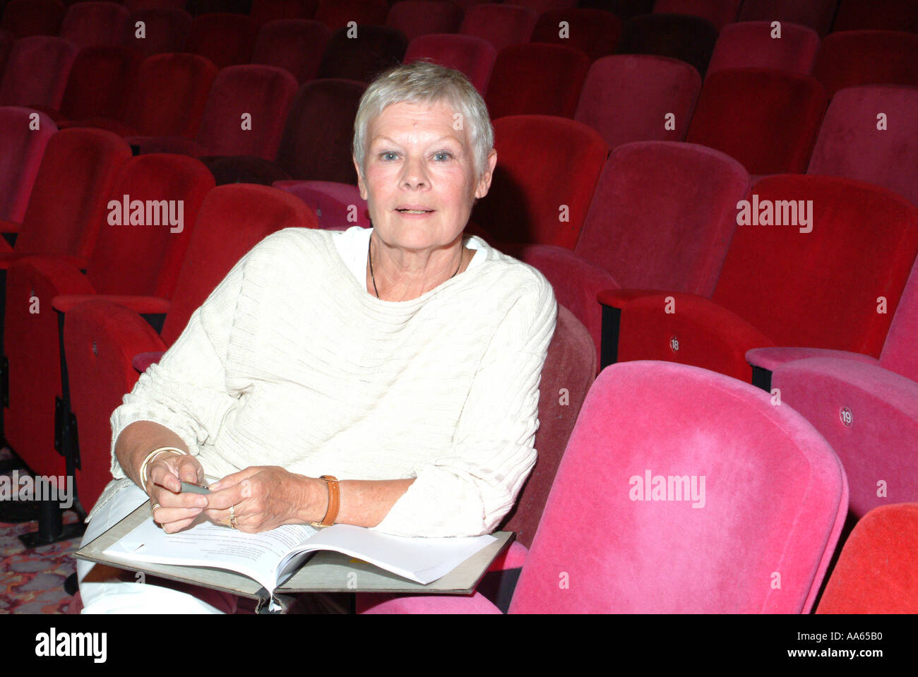 Dame Judi Dench actress author pictured at the Theatre Royal Winchester Stock Photo