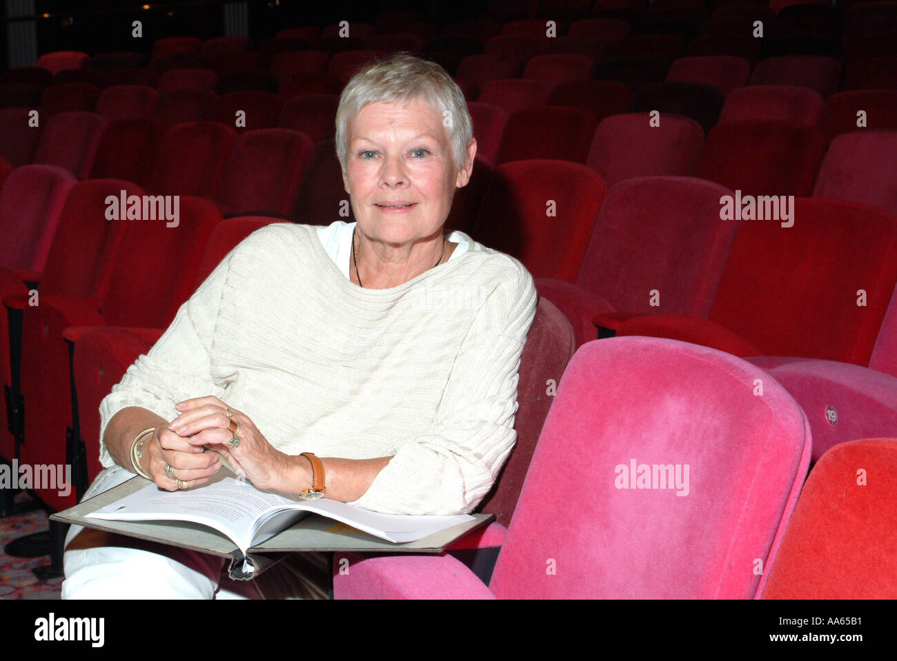 Dame Judi Dench actress author pictured at the Theatre Royal Winchester Hampshire southern England United Kingdom Stock Photo
