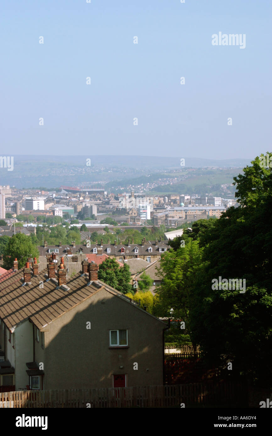 View over Bradford from Parkside - Stock Image