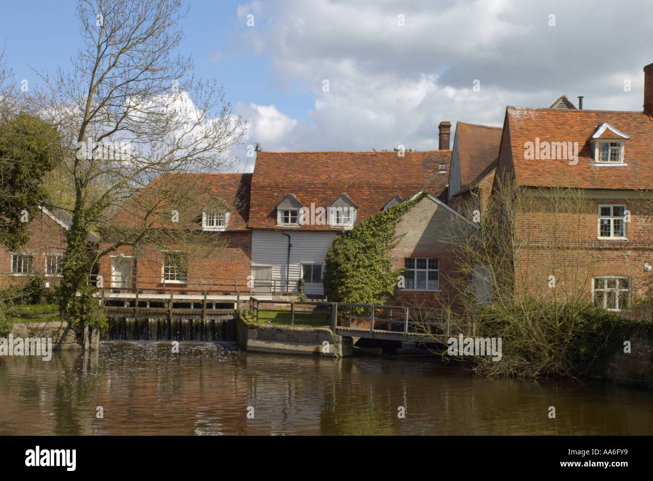 Flatford Mill in Constable Country Norfolk Stock Photo