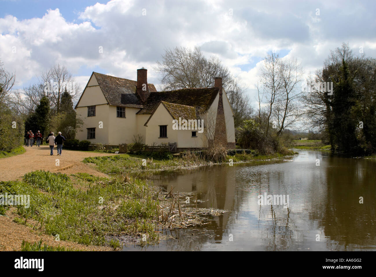 Willy Lotts cottage at Flatford Mill in Constable Country Norfolk Stock Photo