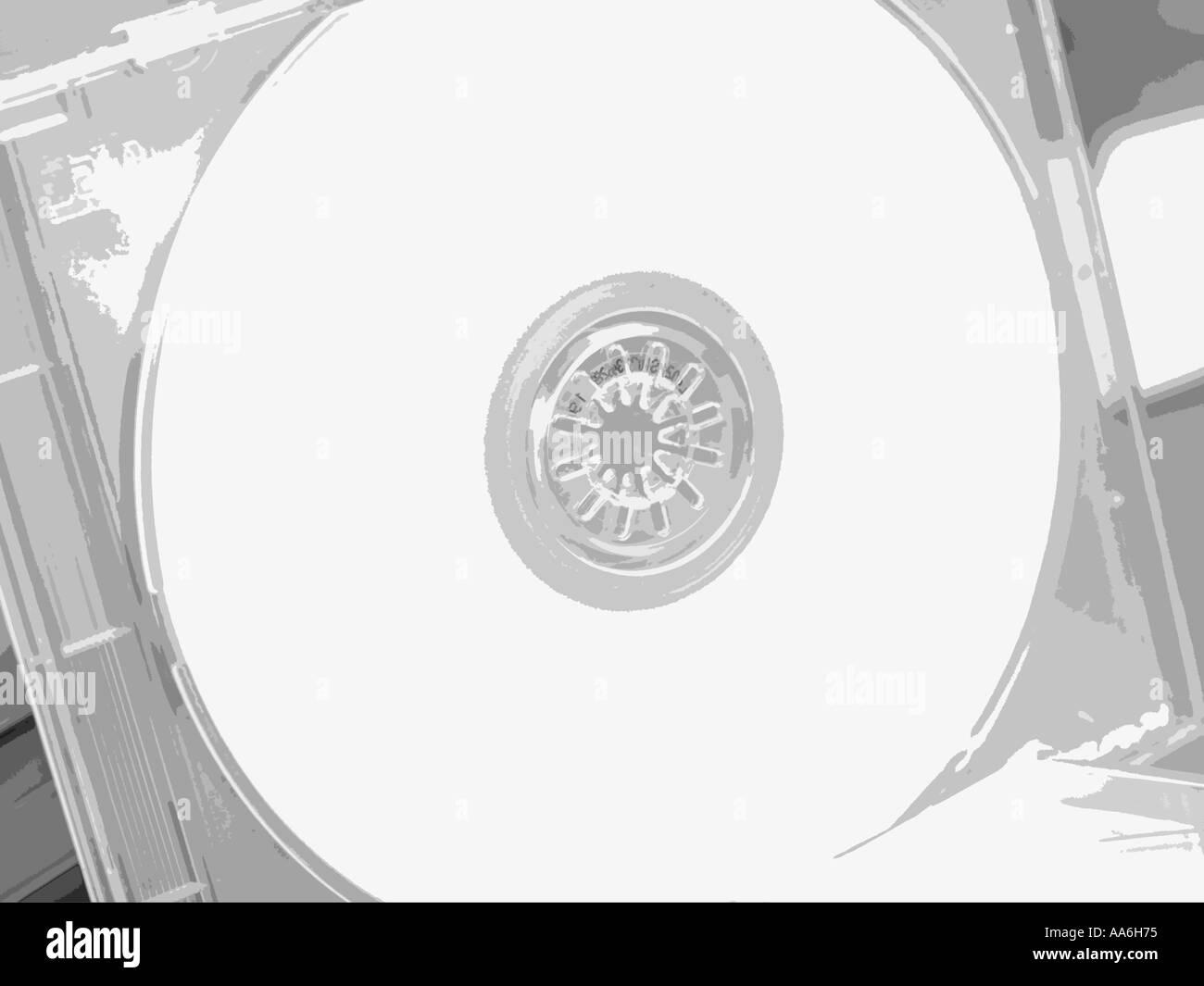 CD-jewel case, CD - Stock Image