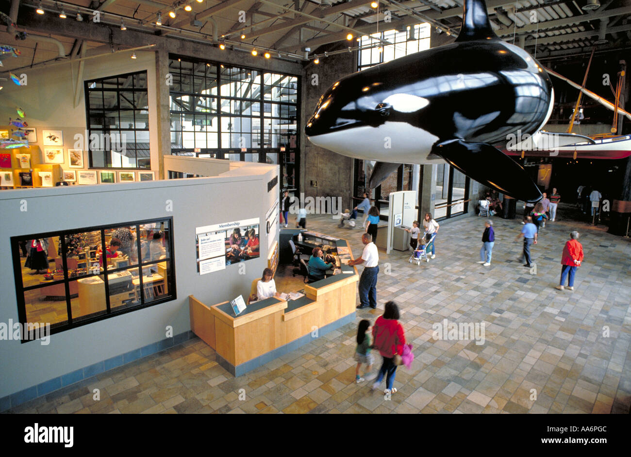 Elk237 1317 California Monterey Monterey Bay Aquarium lobby - Stock Image