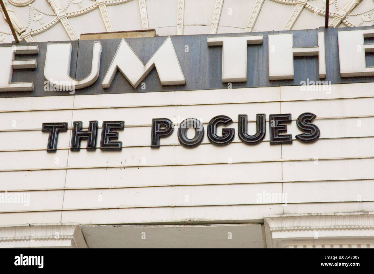 The Pogues at Boston's Orpheum Theatre - Stock Image